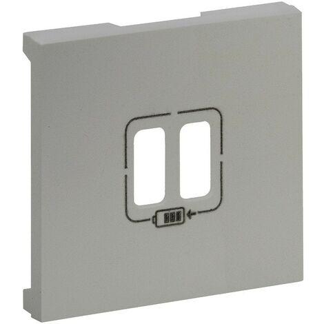 Tapa para Cargador doble USB Legrand 864324 serie Niloe Step Aluminio
