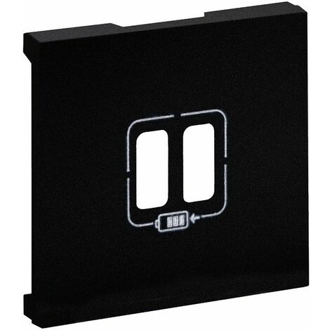 Tapa para Cargador doble USB Legrand 864524 serie Niloe Step Negro Mate