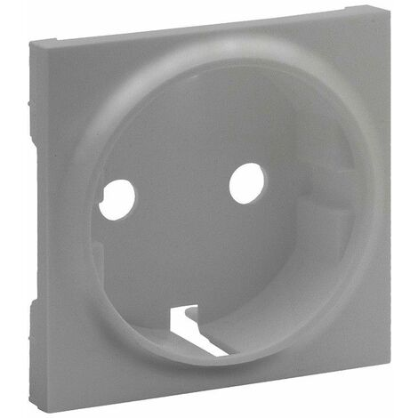 Tapa para Enchufe Schuko 2P+T Legrand 864320 serie Niloe Step Aluminio