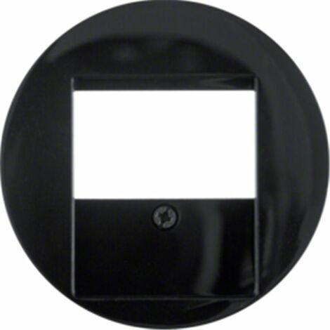 Tapa para toma USB Berker by Hager 6810332045 serie R1 Y R3 color negro brillo