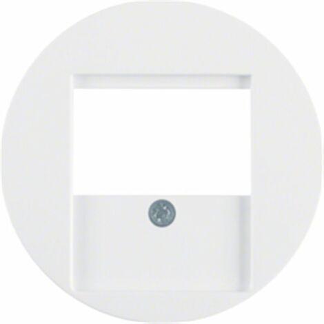 Tapa para toma USB Berker by Hager 6810332089 serie R1 Y R3 color blanco polar brillo