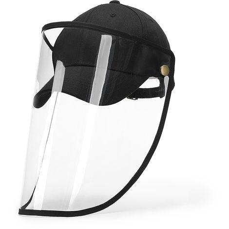 Tapa protectora, con protector facial transparente giratorio extraible, negro(no se puede enviar a Baleares)