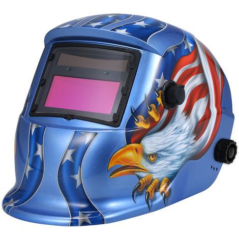 Tapa protectora Mascara solar automatico de oscurecimiento automatico casco de la soldadura de soldadura TIG MIG Escudo de soldadura al arco con la lente ajustable de He-adband