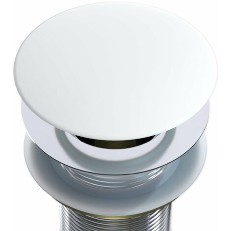Tapa redonda - tapa para tapón automático blanco