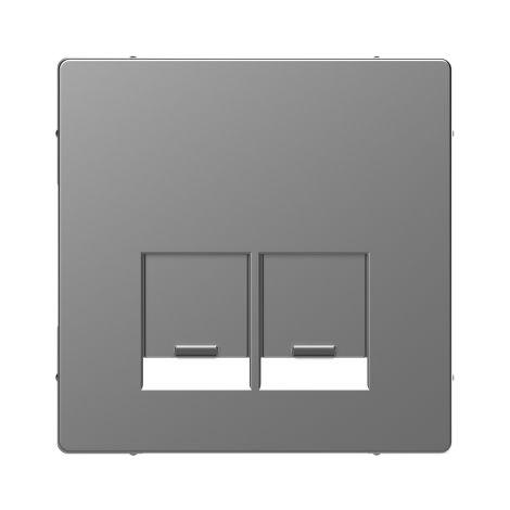 Tapa RJ45 doble D-Life Aluminio SCHNEIDER ELECTRIC MTN4572-6036