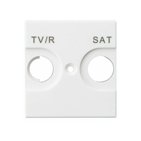 Tapa toma de antena TV/SAT Legrand 741273 serie Valena Next color blanco