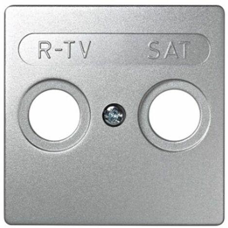 Tapa toma R-TV+SAT aluminio Simon73 Loft 73097-63