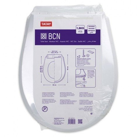 Tapa wc inodoro 43x35cm pp bl bcn tatay