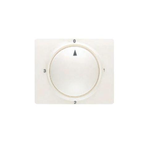 Tapa y boton conmutador rotativo blanco perla BJC Mega 22796-BP