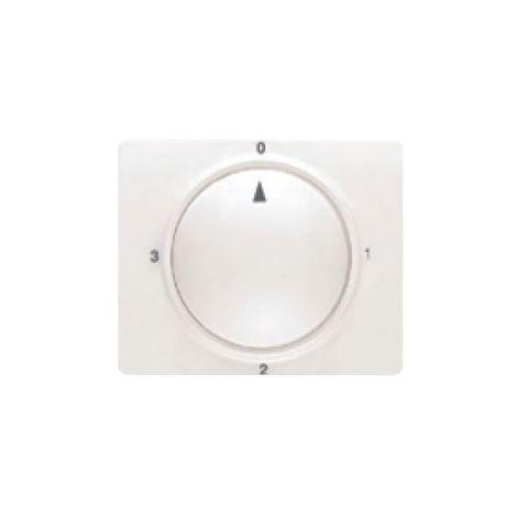 Tapa y boton conmutador rotativo blanco satín BJC Mega 22796-BS