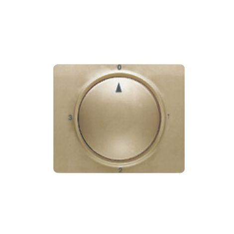 Tapa y boton conmutador rotativo bronce niebla BJC Mega 22796-BN