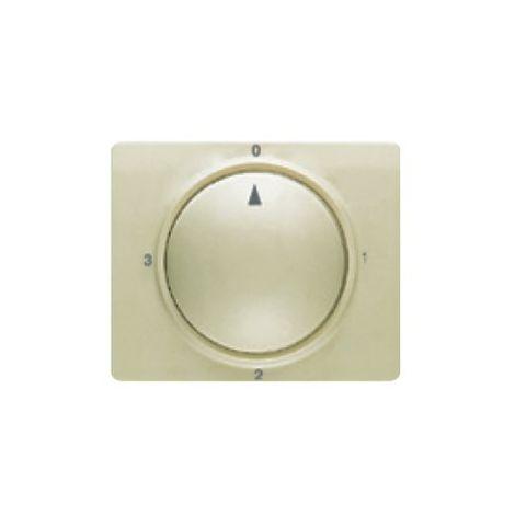 Tapa y boton conmutador rotativo dorado malta BJC Mega 22796-DM
