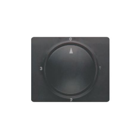 Tapa y boton conmutador rotativo marrón samoa BJC Mega 22796-MS