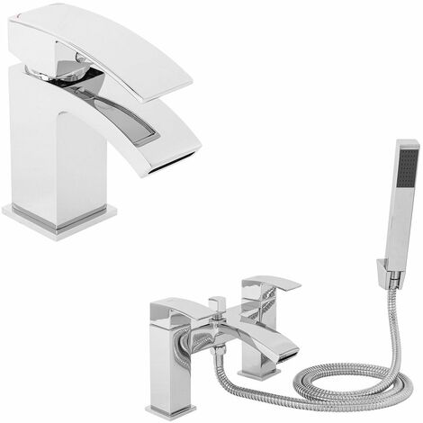 Camden Basin Mixer Tap and Bath Shower Mixer Tap Pack - please select - please select