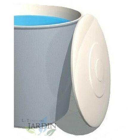 Tapadera depósito poliéster 180 cm, 3000 litros circular fibra de vidrio