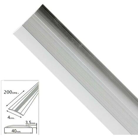 Tapajuntas adhesivo para moquetas aluminio plata 200,0 cm.