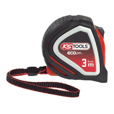 Tape measure KS TOOLS EcoLine - Tri-material - 3m x 16mm - 301.0113