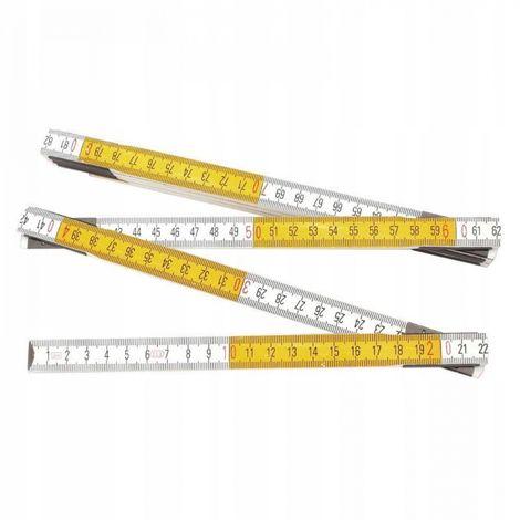 Tape measure wooden folding 2m reinforced meter
