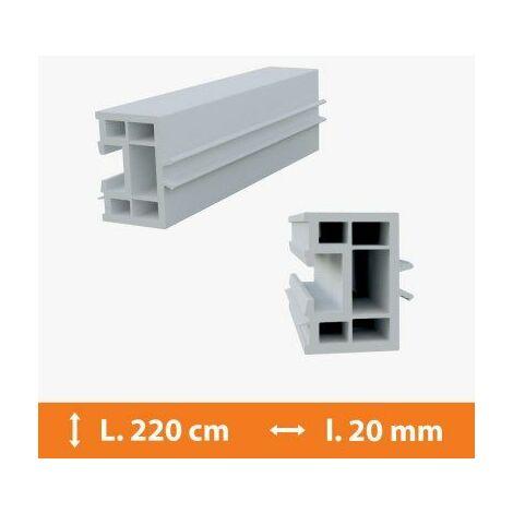 Tapée d'isolation PVC Blanc - 20 mm x L.220cm - Blanc