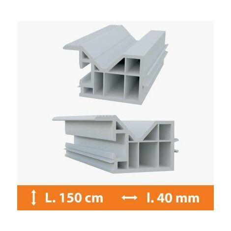 Tapée d'isolation PVC Blanc - 40 mm x L.150cm - Blanc