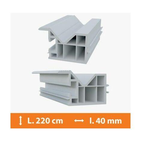 Tapée d'isolation PVC Blanc - 40 mm x L.220cm - Blanc