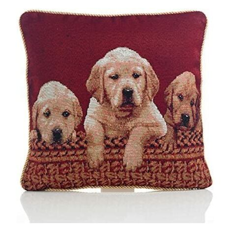 """Tapestry Cushion Cover 18"""" Bed Sofa Accessory Unfilled Labradors"""