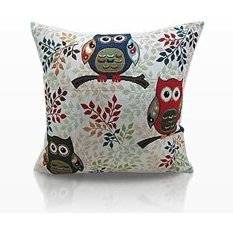 """Tapestry Cushion Cover 18"""" Bed Sofa Accessory Unfilled Toowit"""