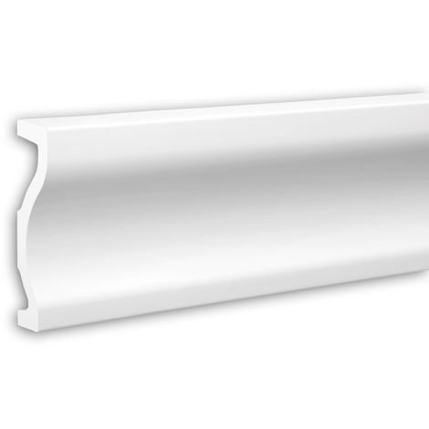 Tapeta Profhome 484001 Perfil de fachada Perfil de estuco Elemento de fachada diseño moderno blanco 2 m