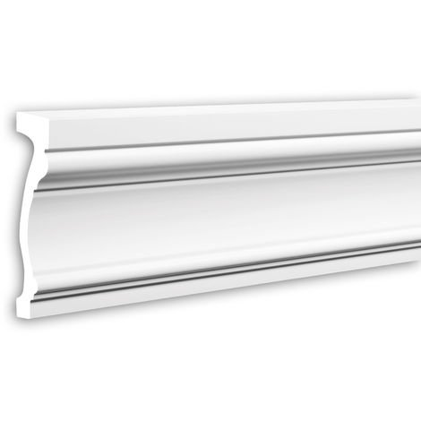Tapeta Profhome 484002 Perfil de fachada Perfil de estuco Elemento de fachada estilo Neoclasicismo blanco 2,3 m
