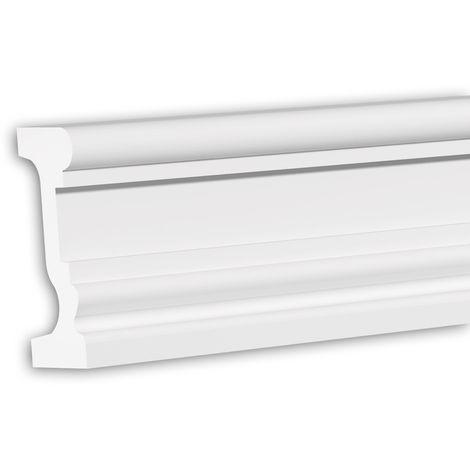 Tapeta Profhome 484004 Perfil de fachada Perfil de estuco Elemento de fachada diseño atemporal clásico blanco 2 m