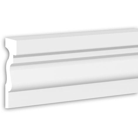 Tapeta Profhome 484005 Perfil de fachada Perfil de estuco Elemento de fachada estilo Neoclasicismo blanco 2 m