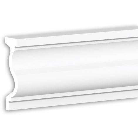 Tapeta Profhome 484006 Perfil de fachada Perfil de estuco Elemento de fachada diseño moderno blanco 2 m