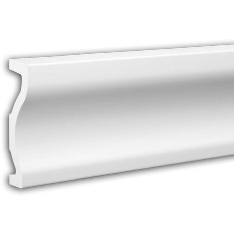 Tapeta Profhome 484051 Perfil de fachada Perfil de estuco Elemento de fachada diseño moderno blanco 2,3 m