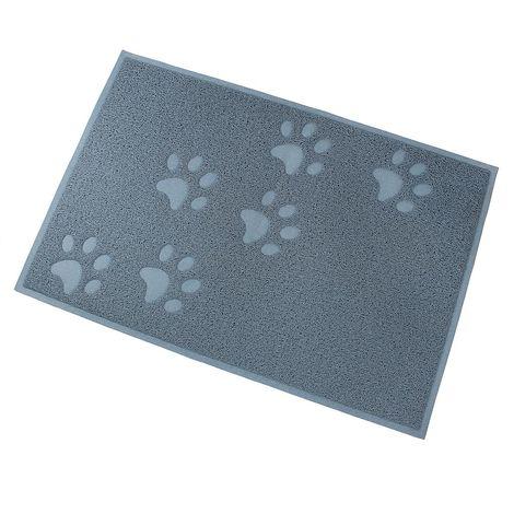 Tapete Impermeable para Animales, Alfombra Para Arena de Gatos, 90 x 60 cm, Azul, Tamaño plegado: 31,5 x 13 x 13 cm