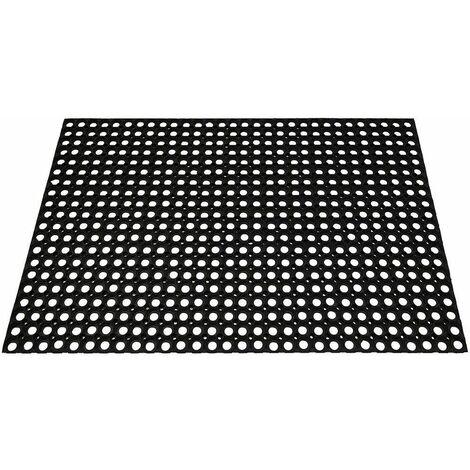 tapis 100x150cm noir - m68 - id mat
