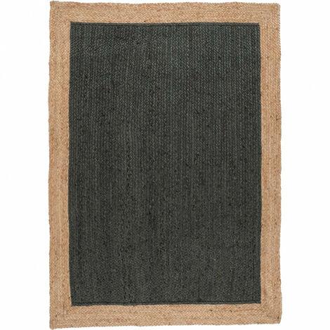 Tapis 160x230 cm en jute naturelle et teinté vert - Capri - vert