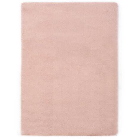 Tapis 160x230 cm Fausse fourrure de lapin Vieux rose3650-A