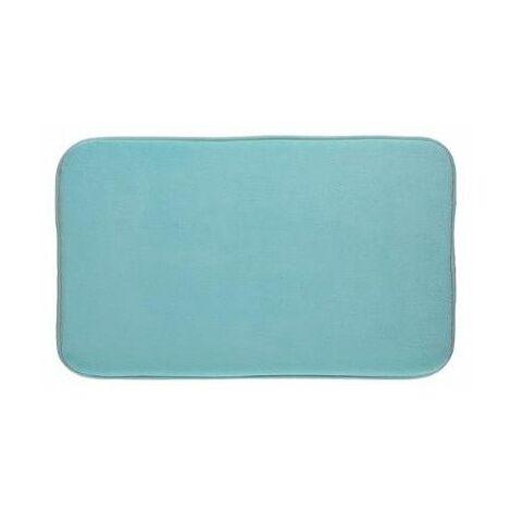 Tapis à mémoire de forme rectangulaire - 50 x 80 cm - Bleu