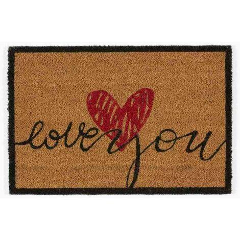 Tapis abrité brossant - girly love - 60x40 cm