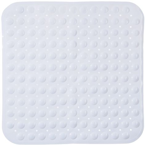 Tapis anti-dérapant fond de douche Colorama - L. 54 x l. 54 cm - Blanc
