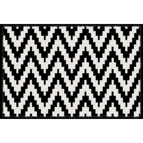 Tapis anti-poussière en polyamide motif Chevrons - Dim : 40 x 60 cm- PEGANE -