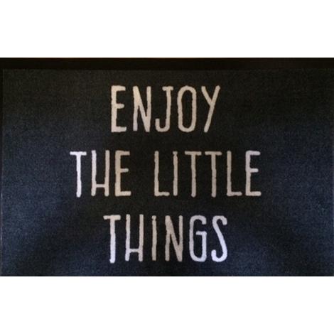 Tapis anti-poussière en polyamide motif Enjoy The Litte Things - Dim : 40 x 60 cm- PEGANE -