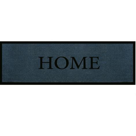 """Tapis anti-poussière rectangulaire en polyamide gris profond """"Home"""" - Dim : 40 x 120 xm- PEGANE -"""