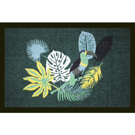 """Tapis anti-poussière """"Tropico"""" en polyamide multicolore - Dim : 40 x 60 cm - PEGANE -"""