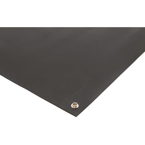 Tapis antistatique Noir, 1.2m x 600mm x 2mm, pour Plan de travail