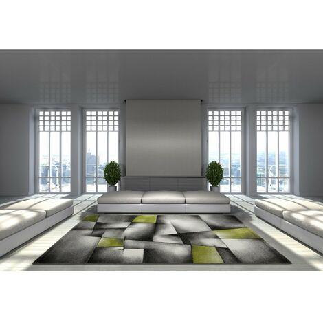 Tapis avec effet 3D vintage pour salon Crystal Vert 80x150 - Vert