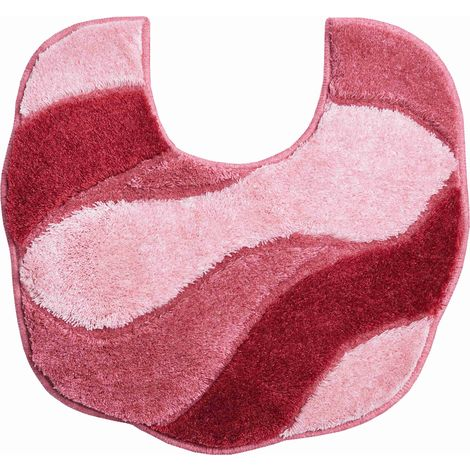 Tapis bain CARMEN rose contour wc 55 x 50 cm / Couleur: Rose / Référence: b2048-044149
