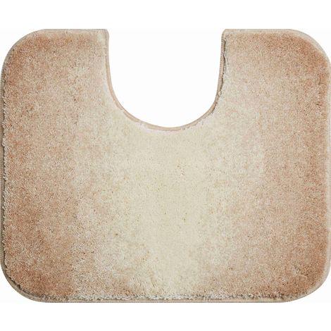 Tapis bain MOON beige contour wc 50 x 60 cm / Couleur: Beige / Référence: b2605-006001137