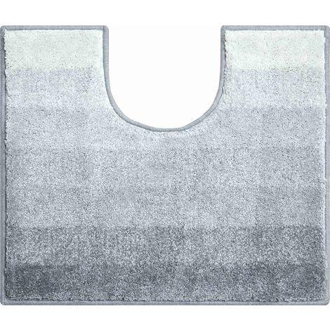 Tapis bain RIALTO anthracite contour wc 50 x 60 cm / Couleur: Anthracite / Référence: b2750-006001096