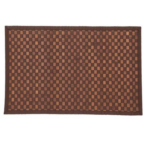 Tapis bambou damier 120X170 CM choco - Chocolat